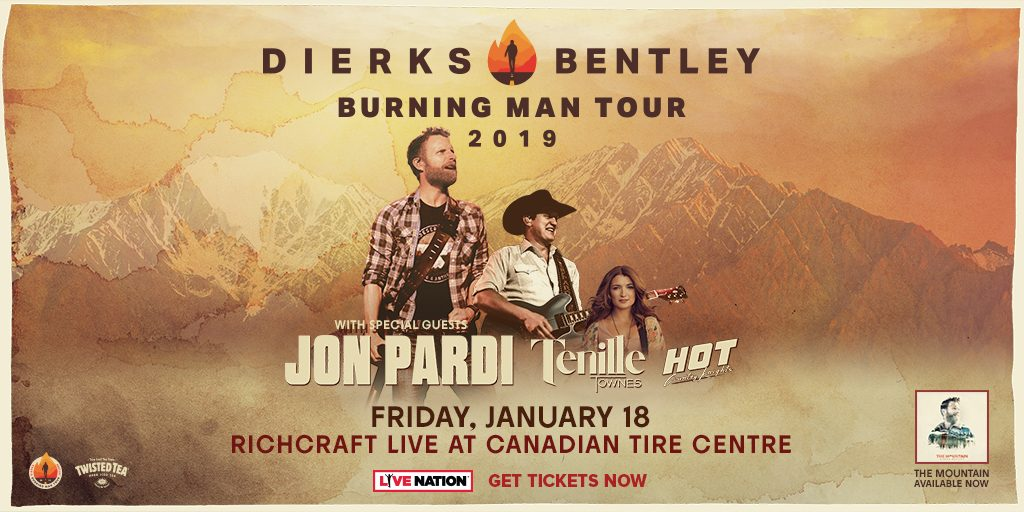 Dierks Bentley Burning Man Tour Country 101 1